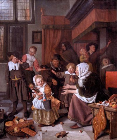 The feast of St. Nicholas, by Jan Steen